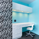 Zebra and white cabinets study desk - PhotoDune Item for Sale