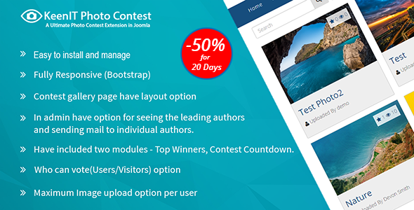 Photo Contest Joomla Extension - CodeCanyon Item for Sale
