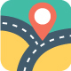 120 Flat Maps and Navigation Icons