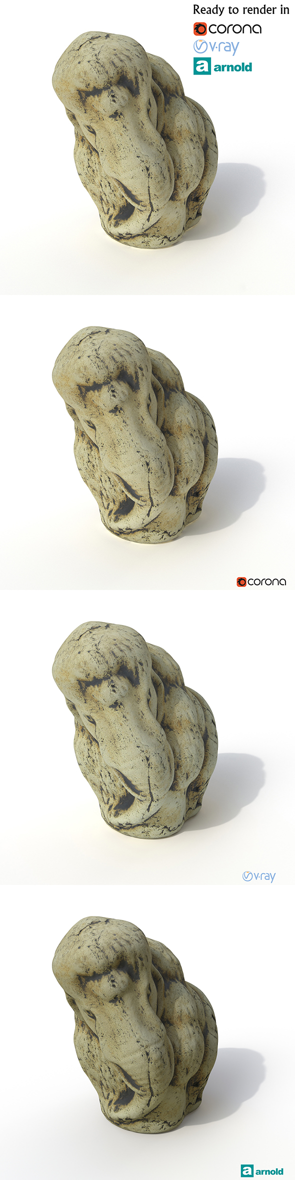 Statuette Mammoth - 3DOcean Item for Sale