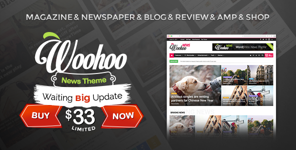 Woohoo - Modish News, Magazine and Blog Theme - News / Editorial Blog / Magazine