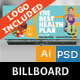 Healthy Life Billboard - GraphicRiver Item for Sale