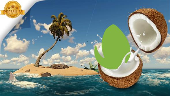 VideoHive Logo Reveal Nature Coconut 20696166
