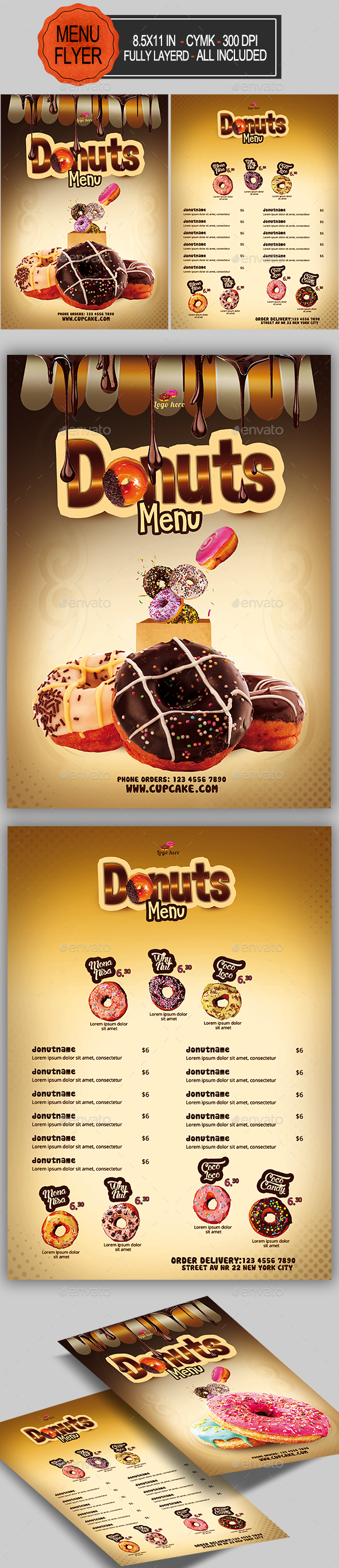 GraphicRiver Donuts Menu 20696190
