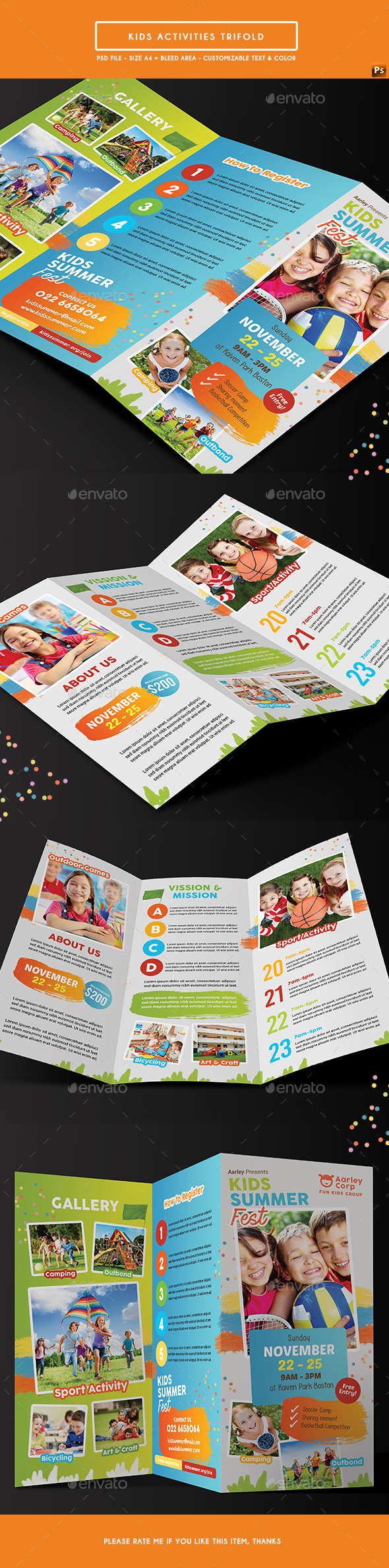 Kids Activities Trifold - Corporate Flyers