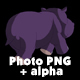 Little Violet Hippo Runs Back View - VideoHive Item for Sale