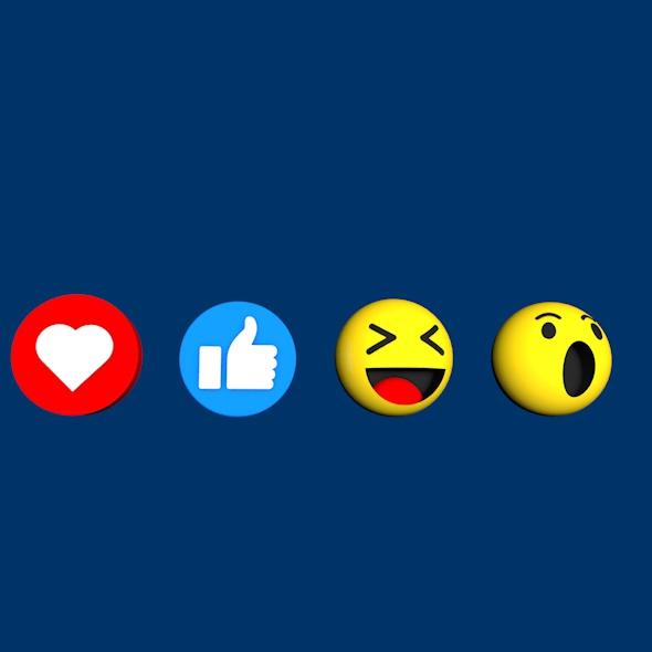 3DOcean Facebook Emoji Pack 20696382