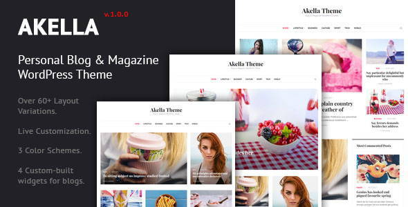 Image of Akella - Personal Blog & Magazine WordPress Theme