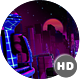 HD Retro Futuristic City Landscape - VideoHive Item for Sale