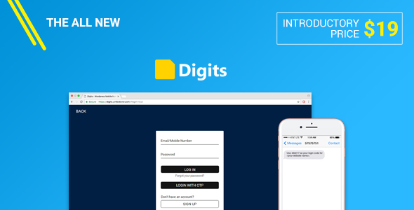 Digits : WordPress Mobile Number Signup and Login Nulled Script