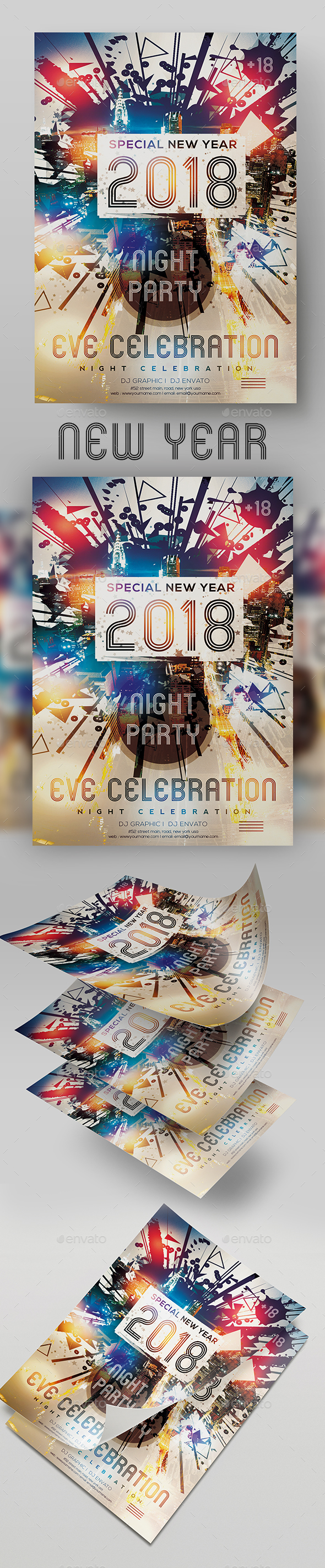 New Years Eve Gala Poster - Clubs & Parties Events