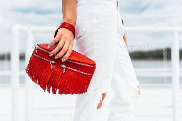 Woman with a bag - Stock Photo - Images