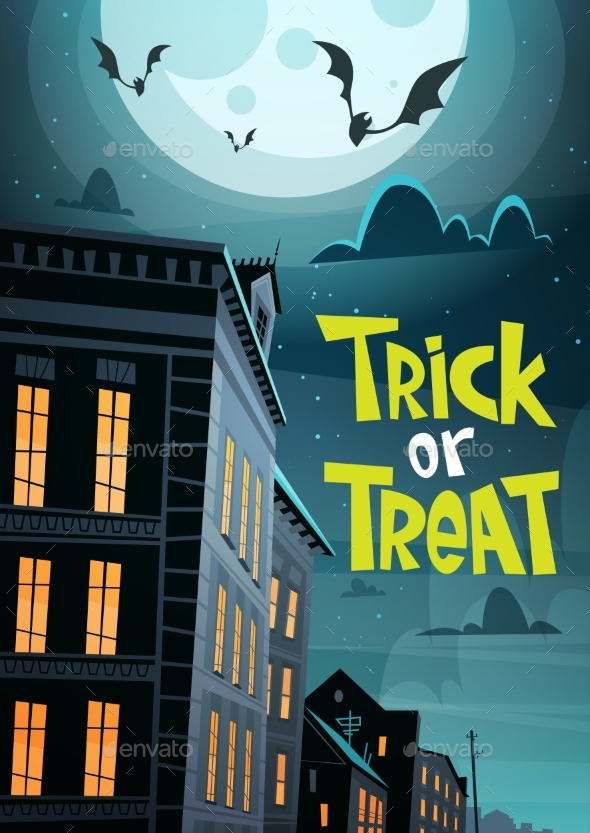 Halloween Party Banner Trick or Treat Holiday - Halloween Seasons/Holidays