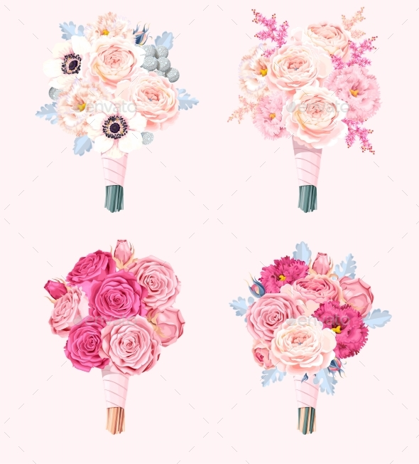 GraphicRiver Set of Wedding Bouquets 20696782