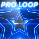 Blue Party Star V1 - Professional VJ Background Loop - VideoHive Item for Sale