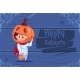 Kid Wear Scarecrow Costume Jack Lantern Happy