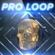 Golden Rocking Skull - Professional VJ Background Loop - VideoHive Item for Sale