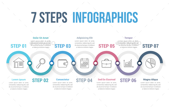 GraphicRiver 7 Steps Infographics 20696965