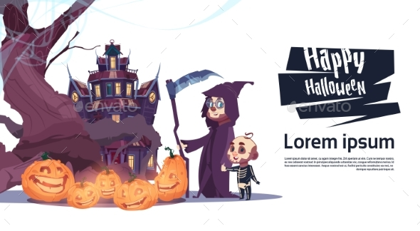 Monsters Walking to Castle - Halloween Seasons/Holidays