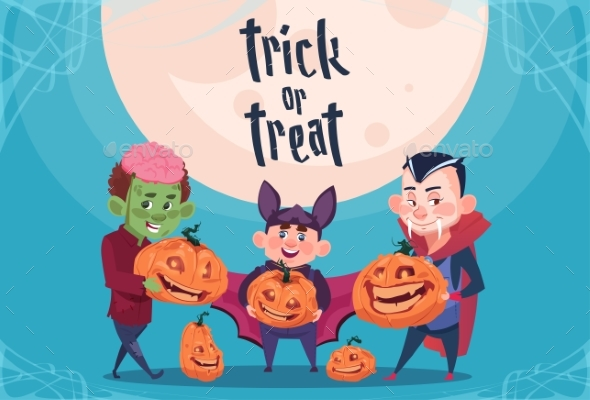Happy Halloween Trick or Treat Banner Kids - Halloween Seasons/Holidays