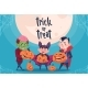 Happy Halloween Trick or Treat Banner Kids