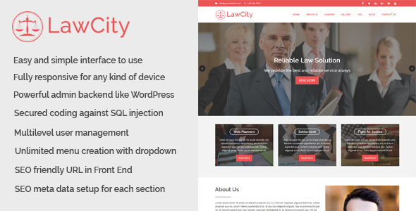 Download LawCity - Lawyer and Law Firm Website CMS