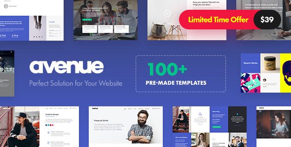 Avenue - Creative Multi-Purpose WordPress Theme