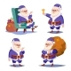 Santa Claus Set Isolated Vector - GraphicRiver Item for Sale