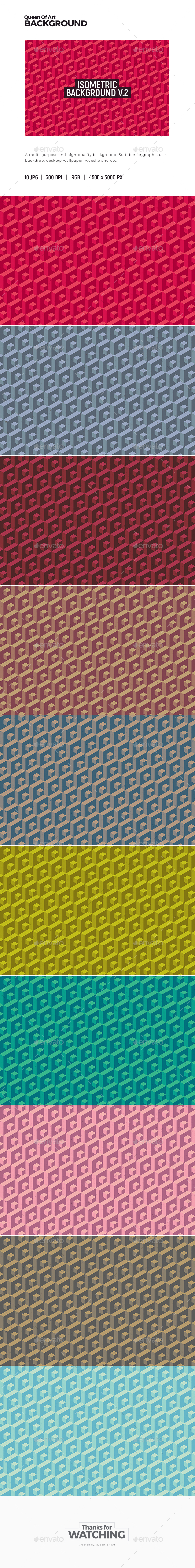 Isometric Background 2 - Patterns Backgrounds