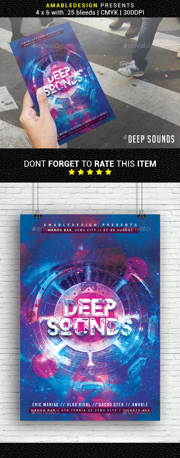 GraphicRiver Deep Sounds Flyer 20697881