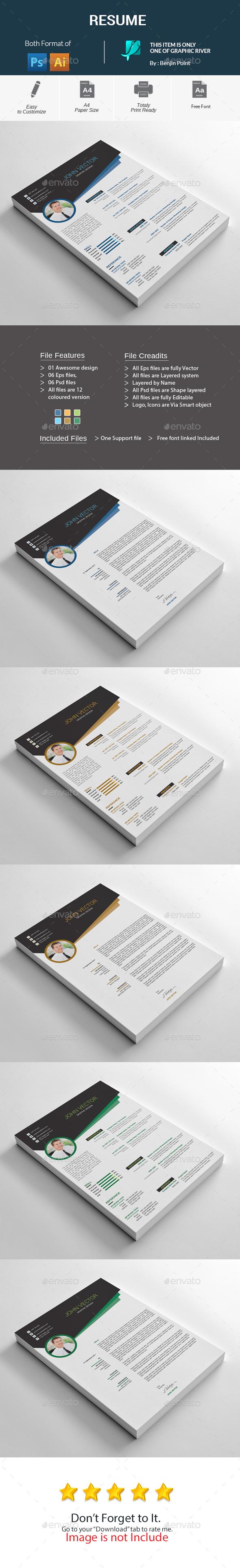 GraphicRiver Resume 20697883