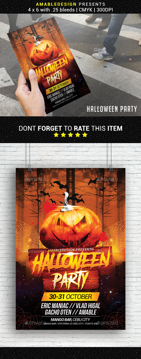 GraphicRiver Halloween Party Flyer 20697888