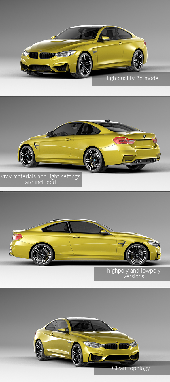 3DOcean BMW M4 Coupe 2015 20697891