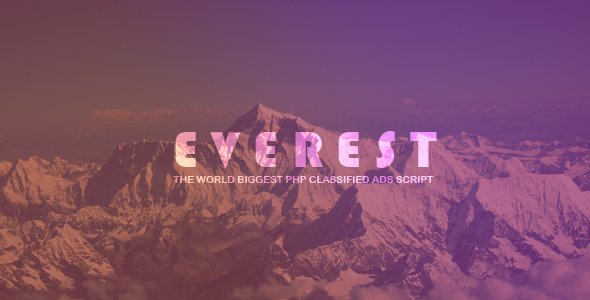 EVEREST - PHP Classified Ads Script - CodeCanyon Item for Sale