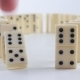 White Dominoes Falling in Chain Reaction. Domino Effect - VideoHive Item for Sale