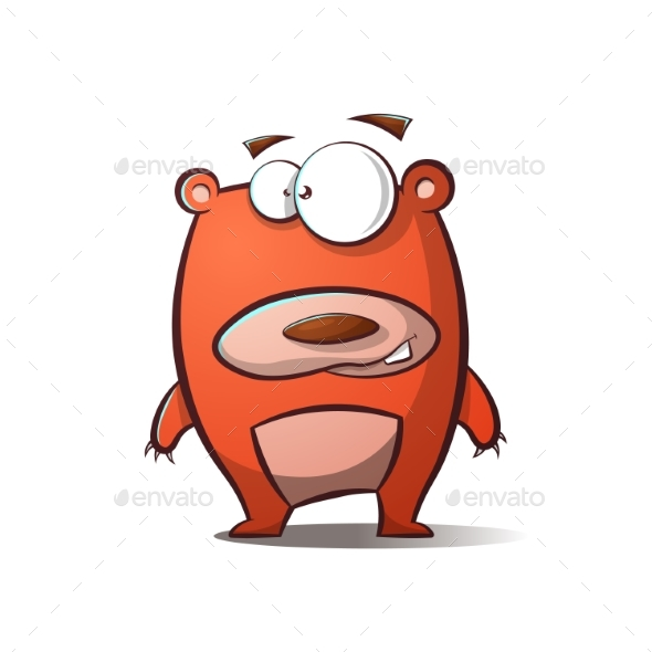 Cartoon Bear Illustration - Animals Characters