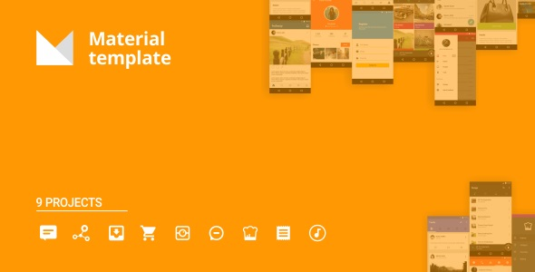 Android Material UI Template 3.0 - CodeCanyon Item for Sale