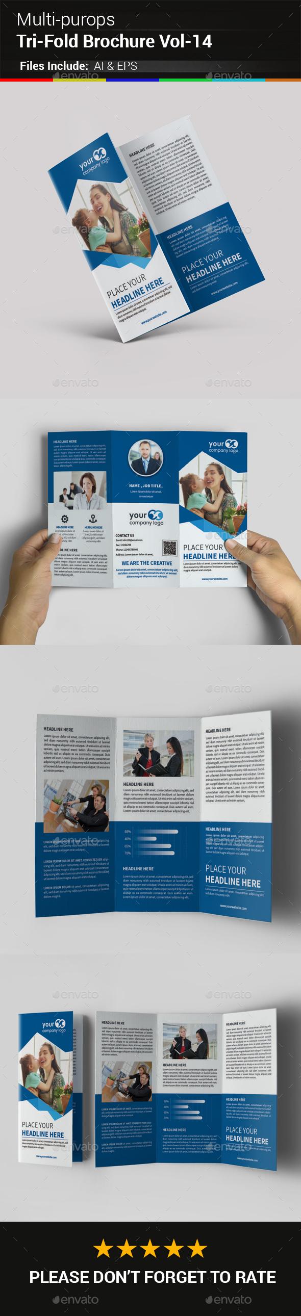Multipurpose Business Tri-Fold Brochure Vol-14 - Corporate Brochures