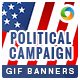 Political Campaign Animated GIF Banners
