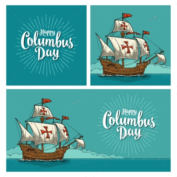 GraphicRiver Posters for Happy Columbus Day 20698647