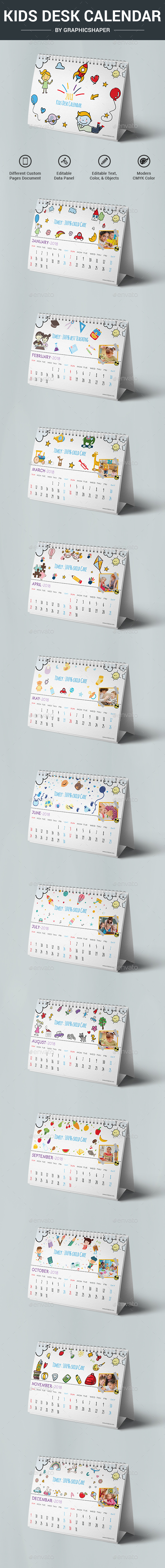 Kids Desk Calendar - Calendars Stationery