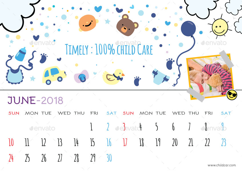 Kids Desk Calendar : Kids desk calendar by graphicshaper graphicriver