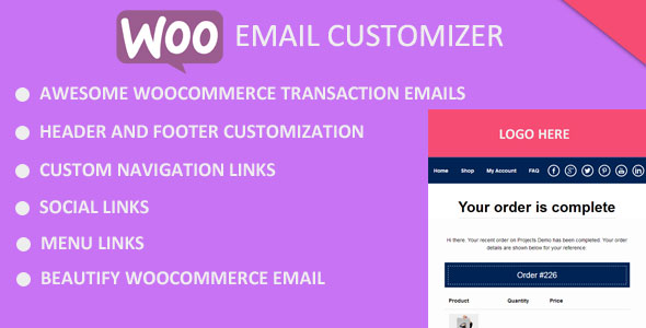 Better Email Customizer for WooCommerce - CodeCanyon Item for Sale