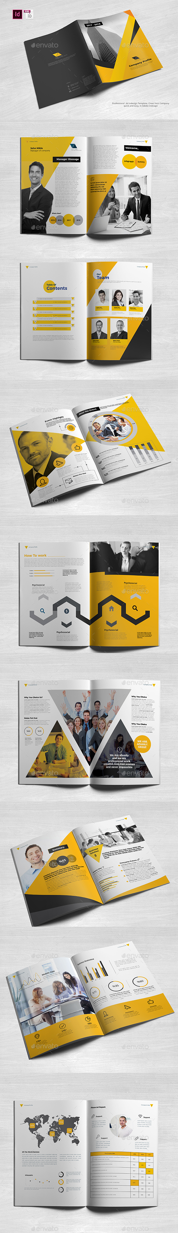Professional Company Profile A4 - Brochures Print Templates