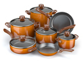 Pots and pans. Set of cooking kitchen utensils and cookware. - PhotoDune Item for Sale