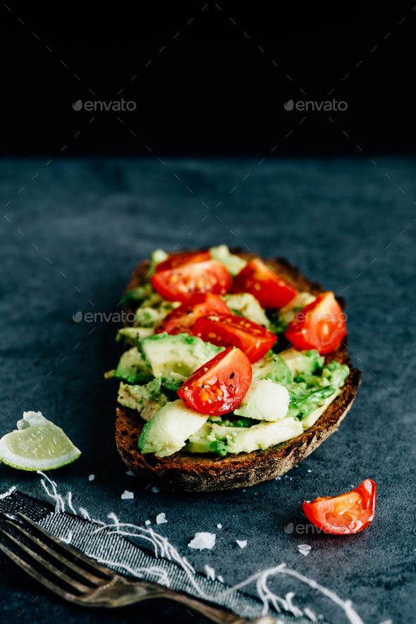 Avocado on Toast - Stock Photo - Images