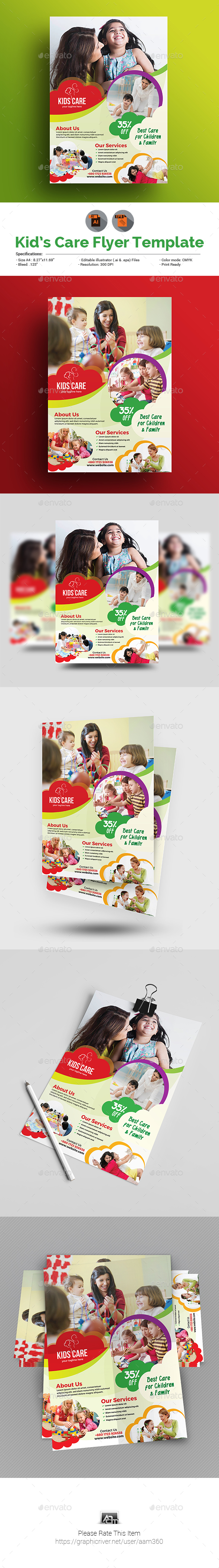 GraphicRiver Child Care Flyer 20699177