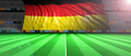 Germany flag in an illuminated football field. 3d illustration - PhotoDune Item for Sale