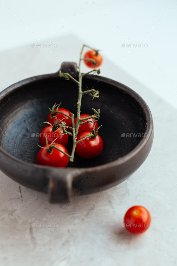 Cherry Tomatoes on the Vine - Stock Photo - Images