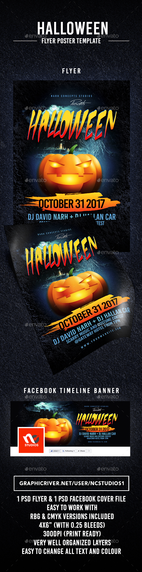 Halloween - Flyers Print Templates